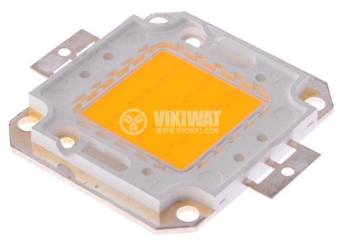 LED diode, 30W, warm white, 2700K, 46x40x4.3mm
