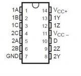 Интегрална схема 75109, TTL съвместим DUAL LINE DRIVERS, DIP14 - 2