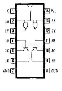 Интегрална схема 75450, TTL съвместим, DUAL PERIPHERAL DRIVER, DIP14 - 2