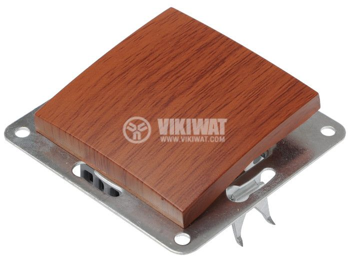 Electric Switch, wood-coloured, LEXA 250 VAC, 10 A, deviatore