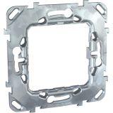 Fixing frame, Schneider, Unica, 1-gang, zink color, MGU7.002