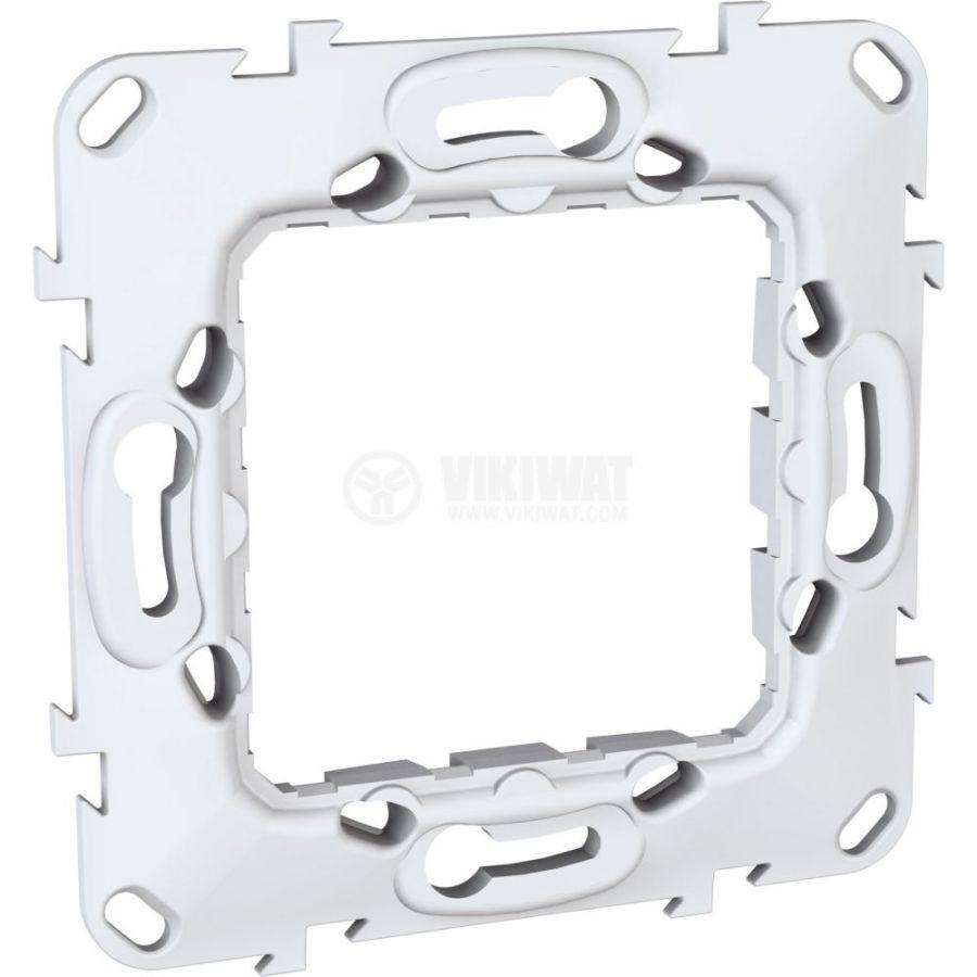 Монтажна рамка, Schneider, Unica, едно гнездо, цвят бял, MGU7.002.P