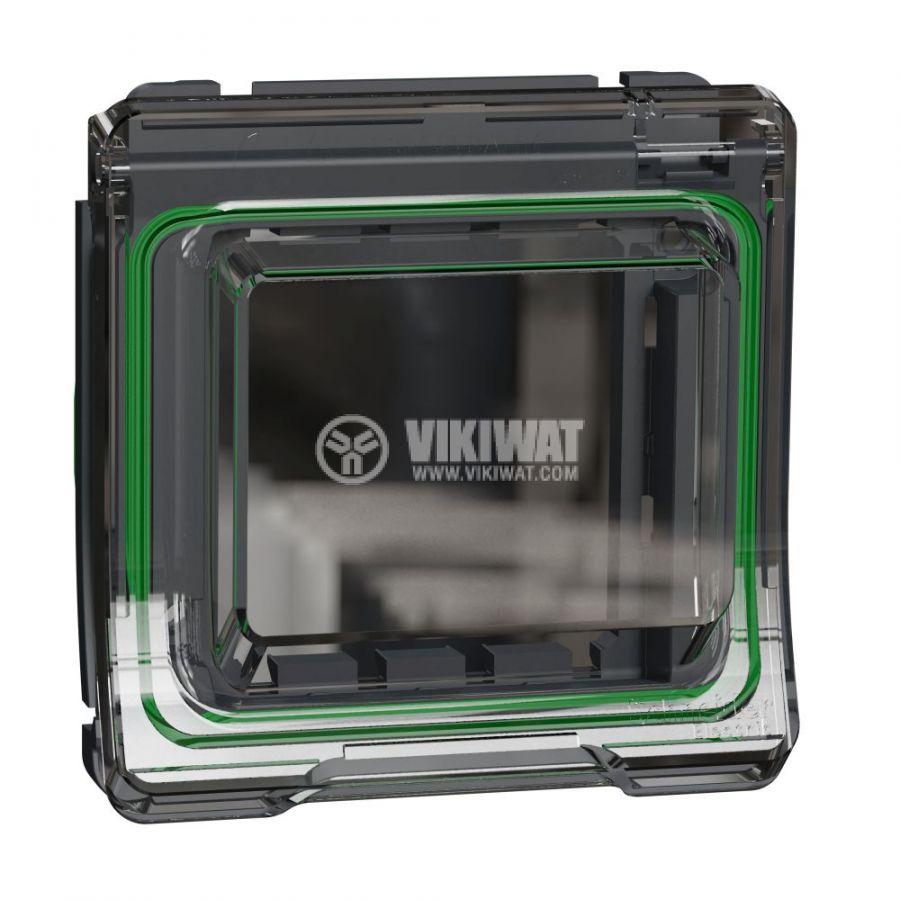 Декоративна рамка, единична, сив, PC/полипропилен, MUR35110