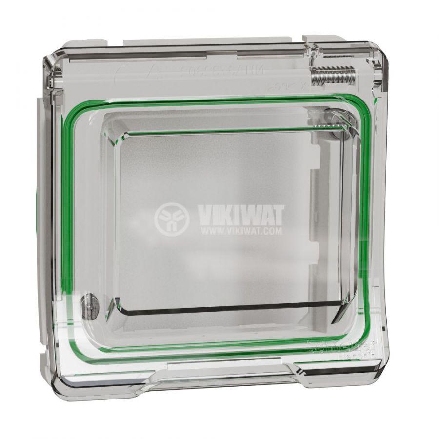 Декоративна рамка, единична, бял, PC/полипропилен, MUR39106