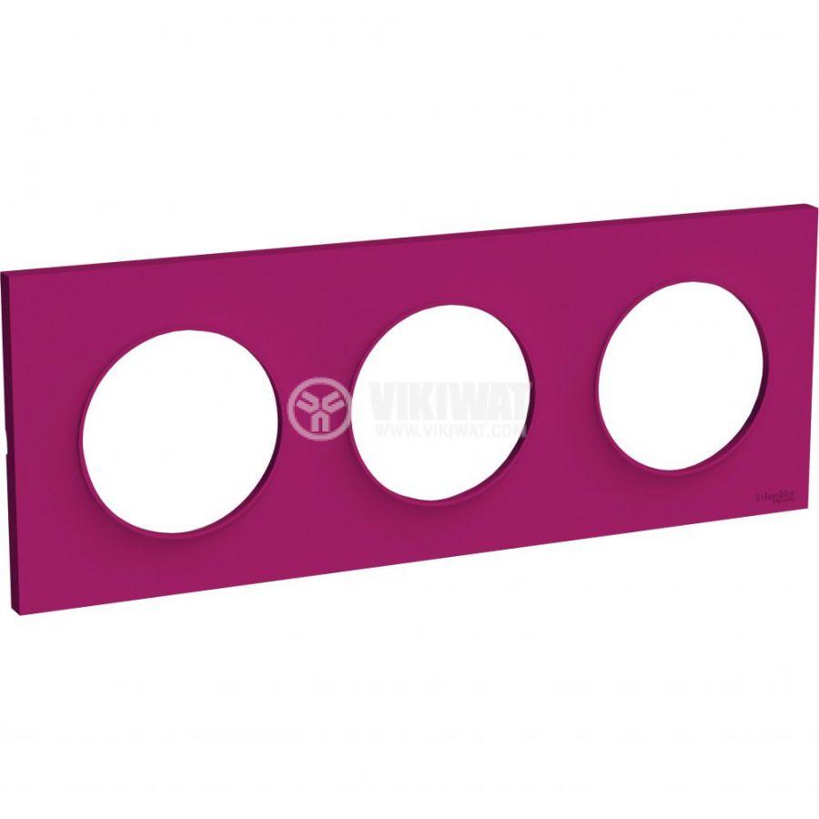 Декоративна рамка, тройна, пурпурен, ABS, S520706D