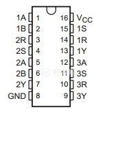 Интегрална схема 75124N,  TTL съвместима, TRIPLE LINE RECEIVER, DIP16 - 2
