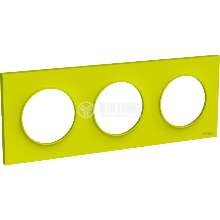 Декоративна рамка, тройна, зелен, ABS, S520706H