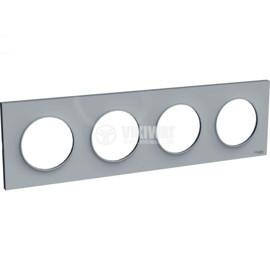 Декоративна рамка, четворна, сив, ABS, S520708A1