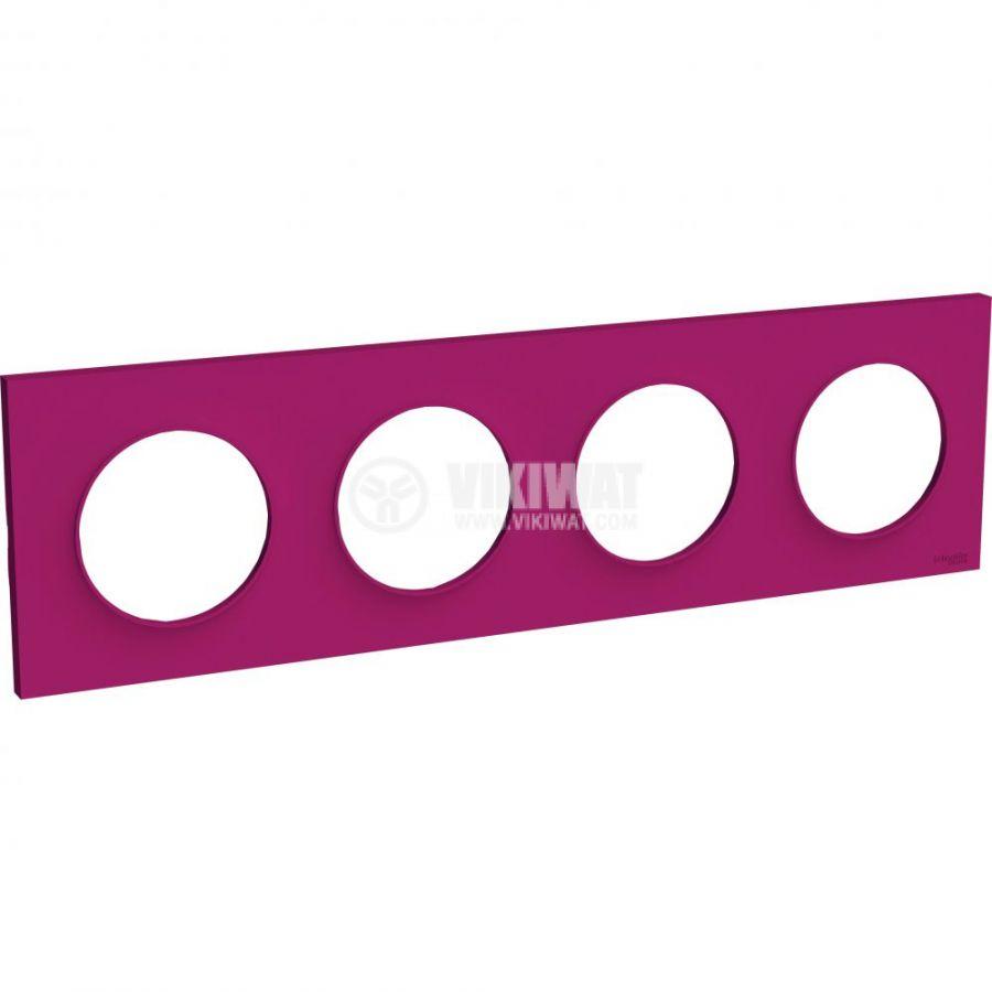 Декоративна рамка, четворна, пурпурен, ABS, S520708D