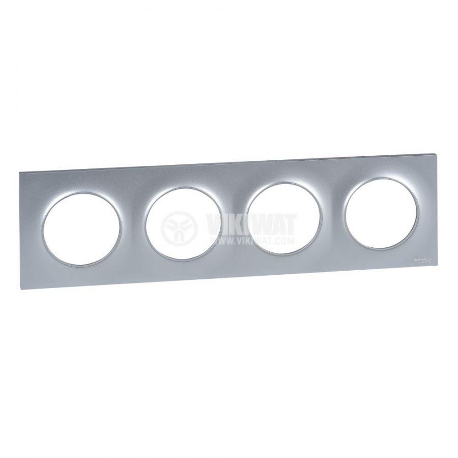 Декоративна рамка, четворна, алуминий, ABS, S520708E