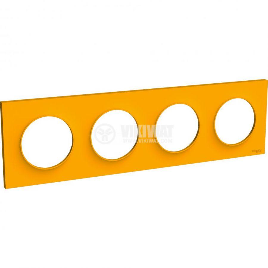 Декоративна рамка, четворна, кехлибар, ABS, S520708G