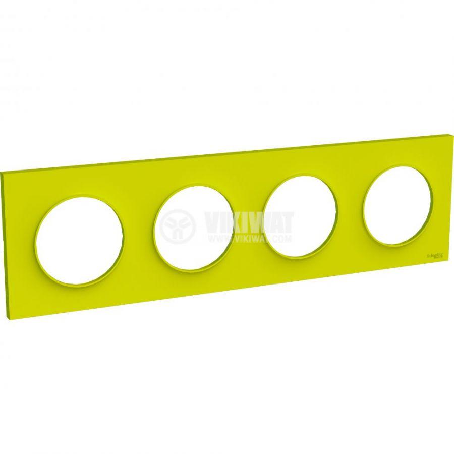 Декоративна рамка, четворна, зелен, ABS, S520708H