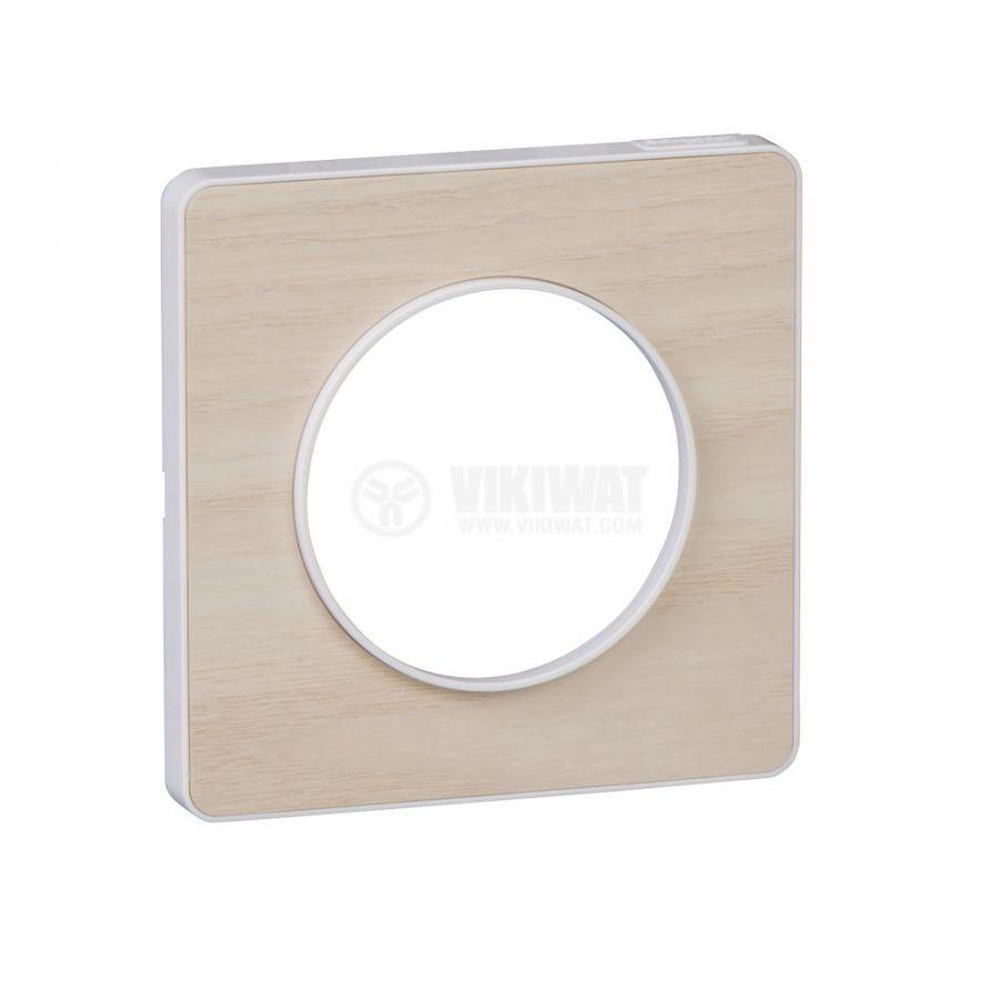Декоративна рамка, единична, дърво/бял, PC/дърво, S520802M