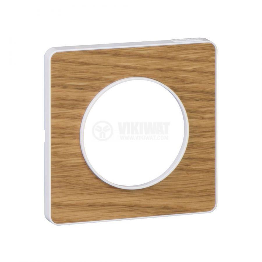 Декоративна рамка, единична, дърво/бял, PC/дърво, S520802N