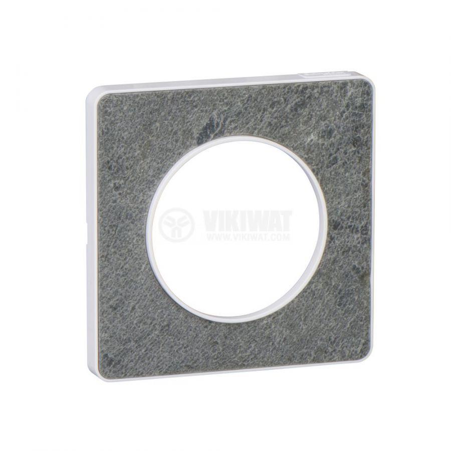 Декоративна рамка, единична, камък/бял, PC/камък, S520802U
