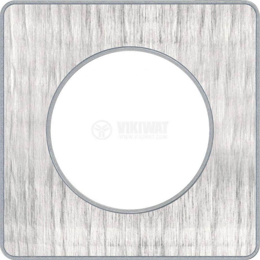 Декоративна рамка, единична, алуминий кроко/алуминий, PC/алуминий, S530802J1