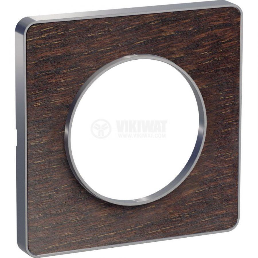 Декоративна рамка, единична, венге/алуминий, PC/алуминий, S530802P