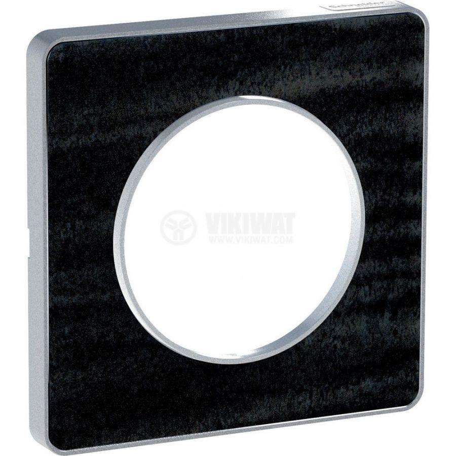 Декоративна рамка, единична, черен дъб/черен, PC/дърво, S530802P1