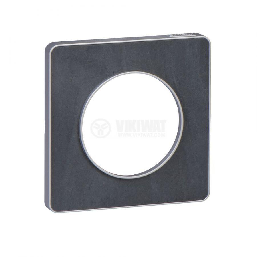 Декоративна рамка, единична, камък/алуминий, PC/камък, S530802V