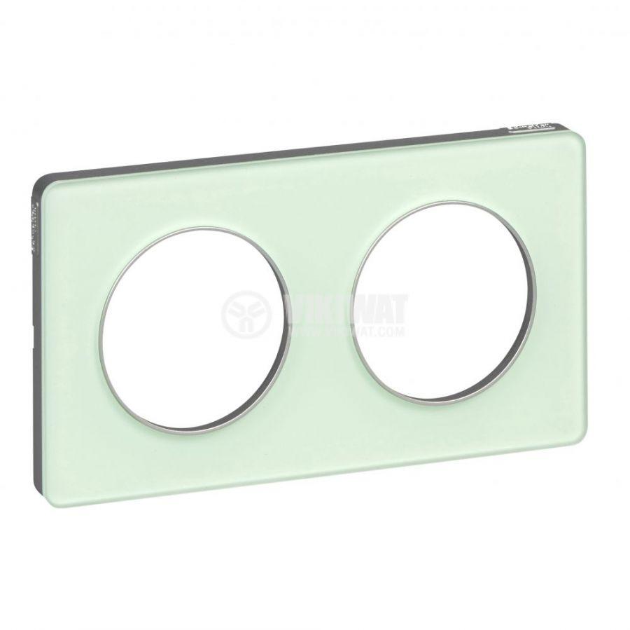 Декоративна рамка, двойна, ледено зелен/алуминий, PC/акрил, S530804S