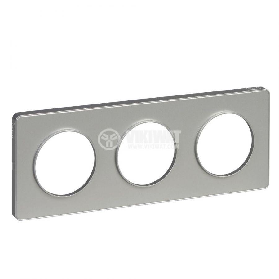Decorative frame, triple, aluminium, ABS, S530806