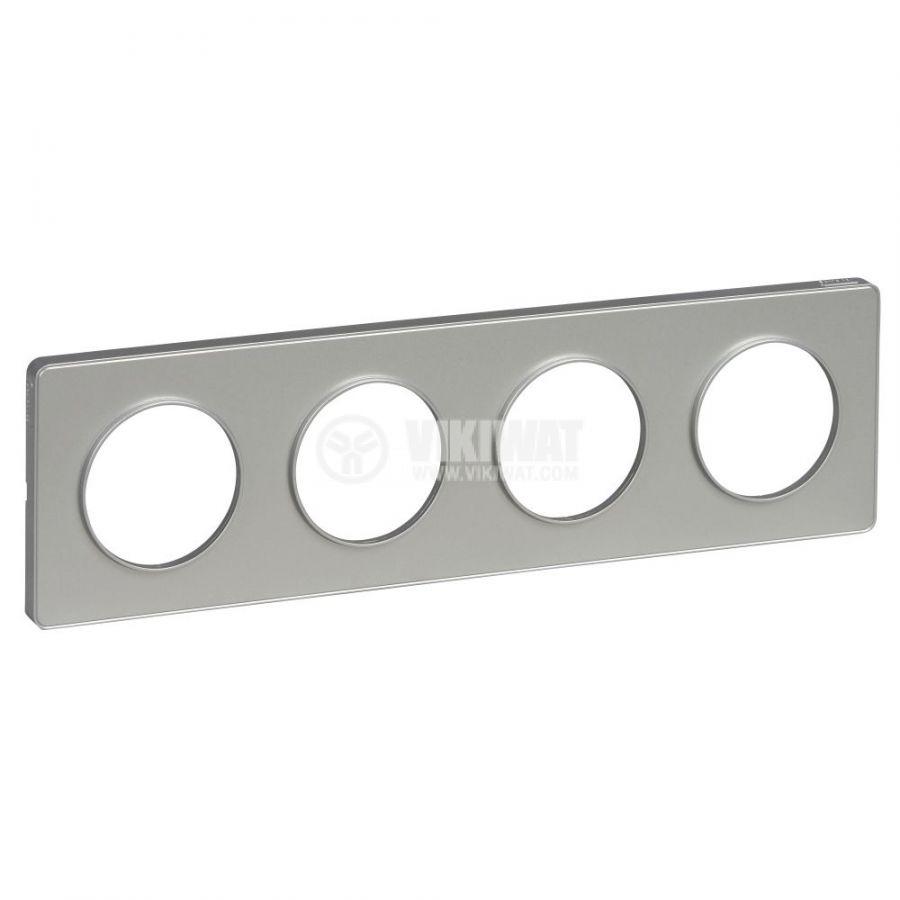 Декоративна рамка, четворна, алуминий, ABS, S530808