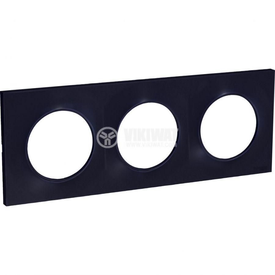 Декоративна рамка, тройна, антрацит, ABS, S540706
