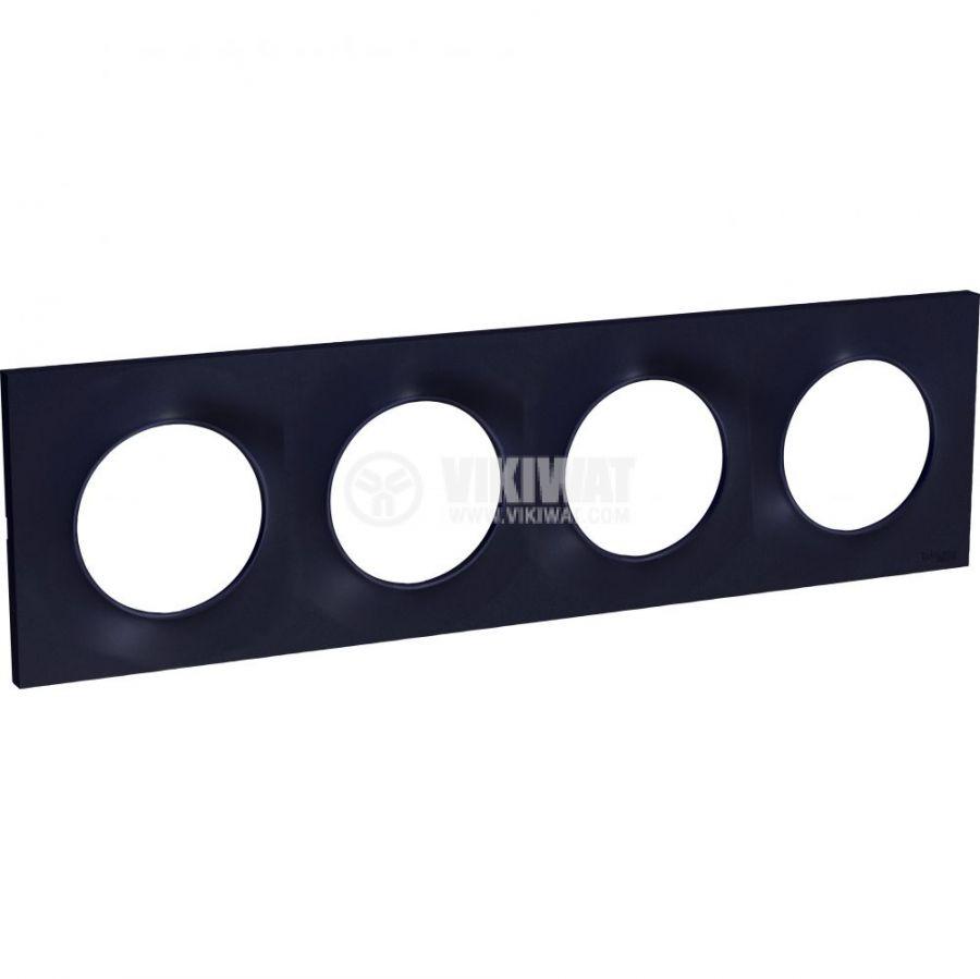 Декоративна рамка, четворна, антрацит, ABS, S540708