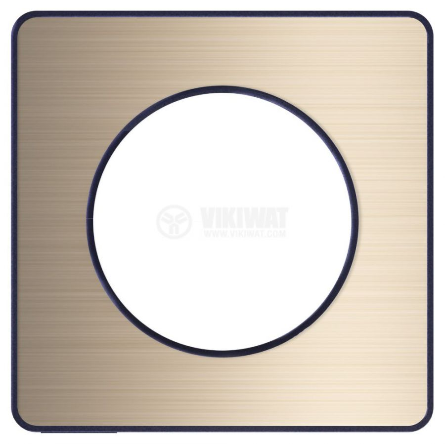 Декоративна рамка, единична, драскан бронз/антрацит, PC/алуминий, S540802L