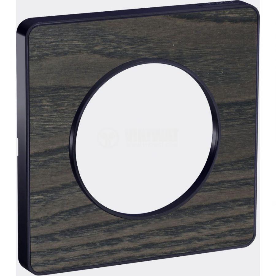 Декоративна рамка, единична, дърво/антрацит, PC/алуминий, S540802P3
