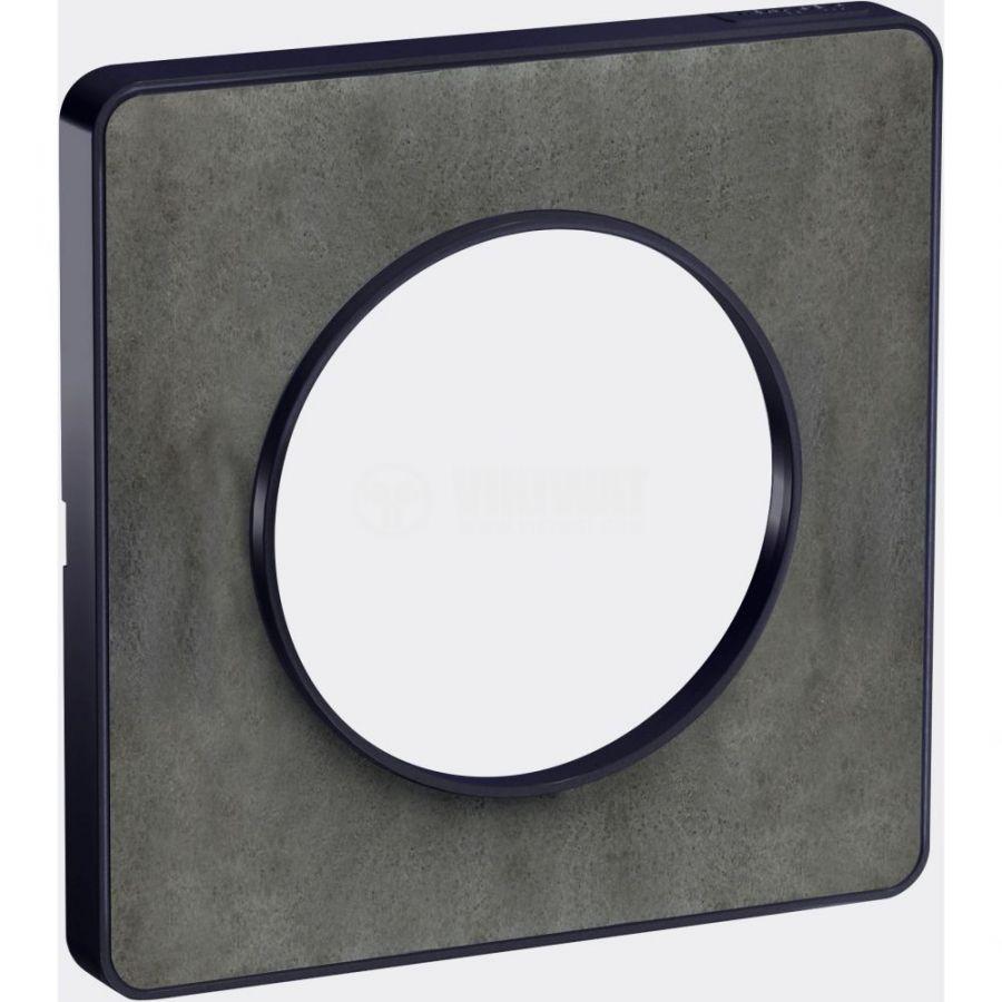 Декоративна рамка, единична, камък/антрацит, PC/камък, S540802V