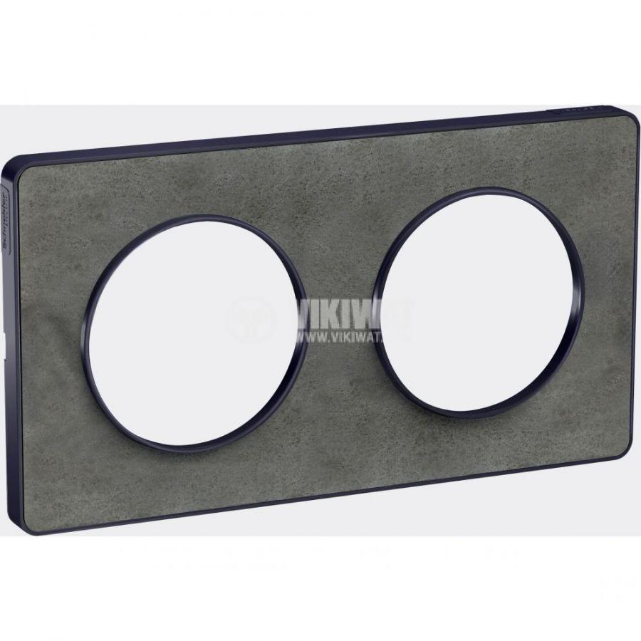 Декоративна рамка, двойна, камък/антрацит, PC/камък, S540804V