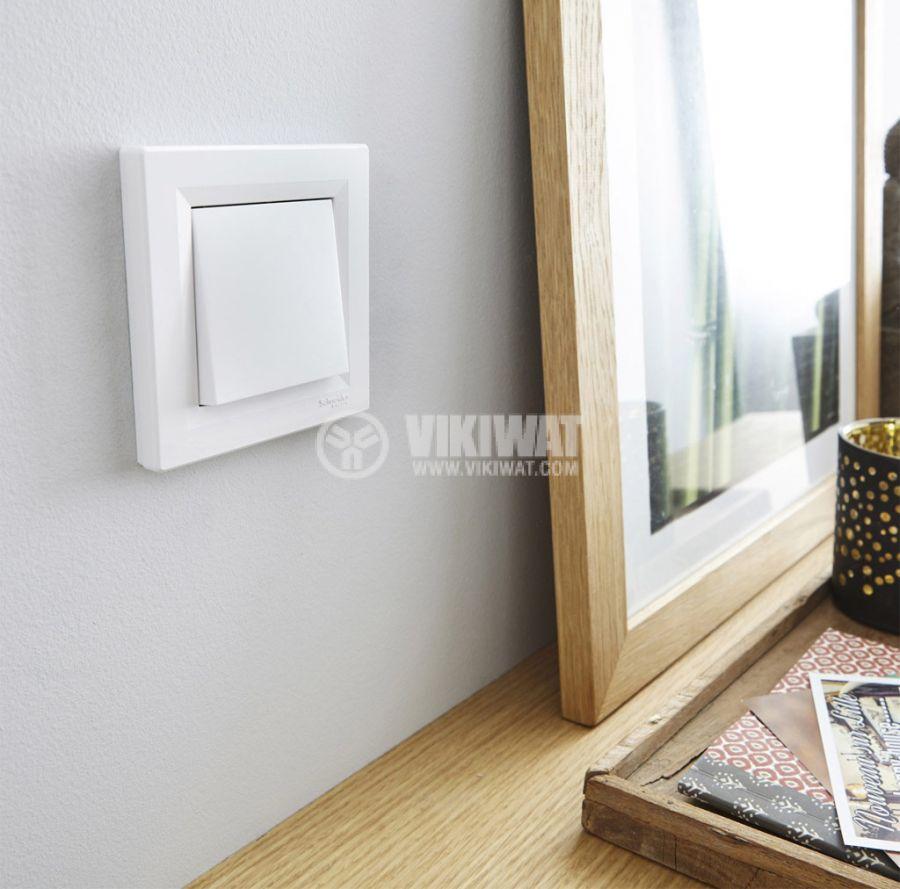 Бял ключ за осветление схема 1 Асфора Шнайдер EPH0100121 - 2