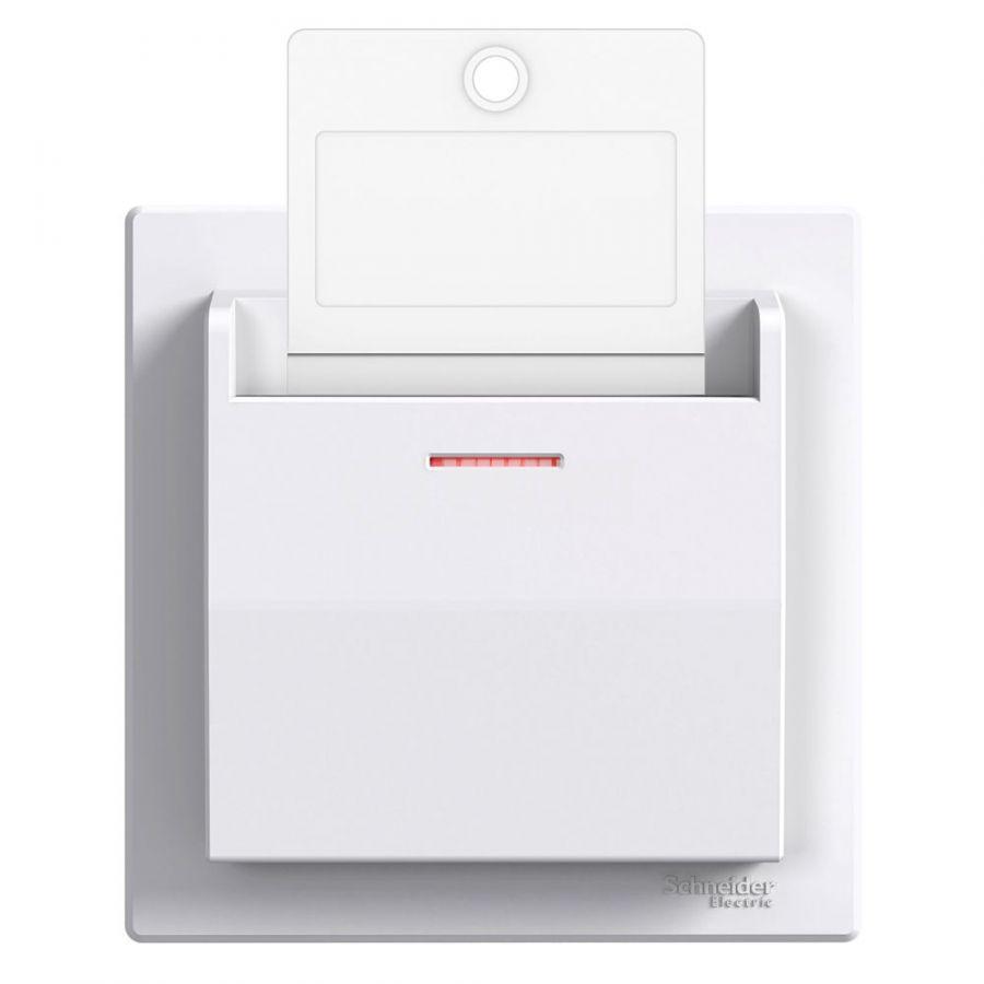 Електрически ключ за карта, 10A, 250VAC, за вграждане, бял, EPH6200121