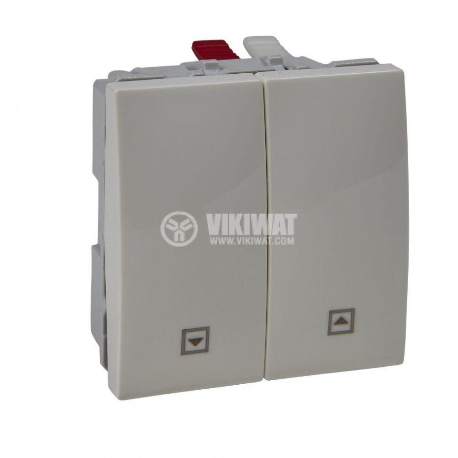 Електрически ключ лихт бутон, 10A, 250VAC, за вграждане, слонова кост, MGU3.207.25