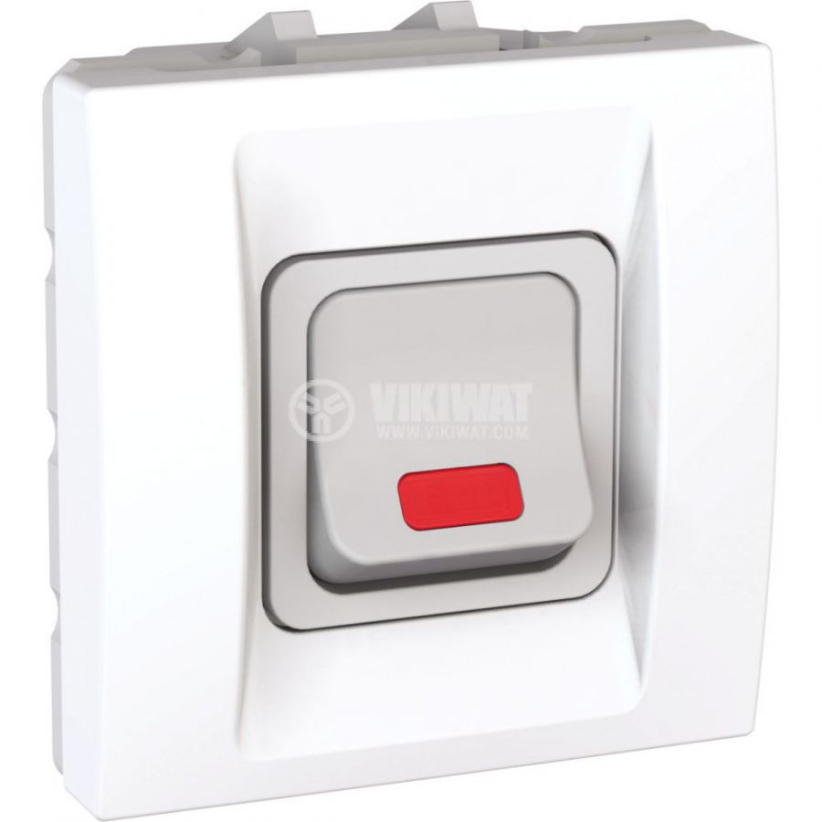Електрически ключ сх.5 (сериен) единичен, 20A, 250VAC, за вграждане, бял, MGU3.224.18S