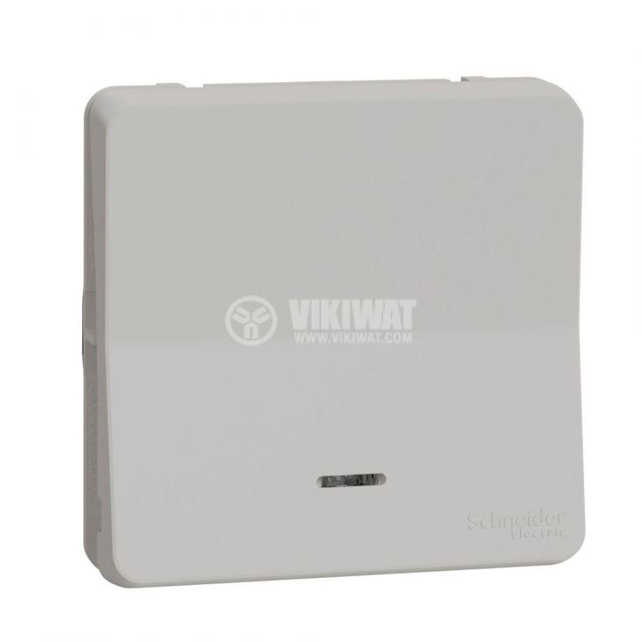 Електрически ключ сх.6 девиаторен, 10A, 230VAC, за вграждане, бял, MUR39024