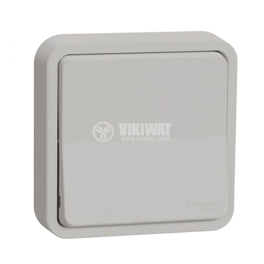 Електрически ключ сх.6 девиаторен, 10A, 230VAC, за вграждане, бял, MUR39721