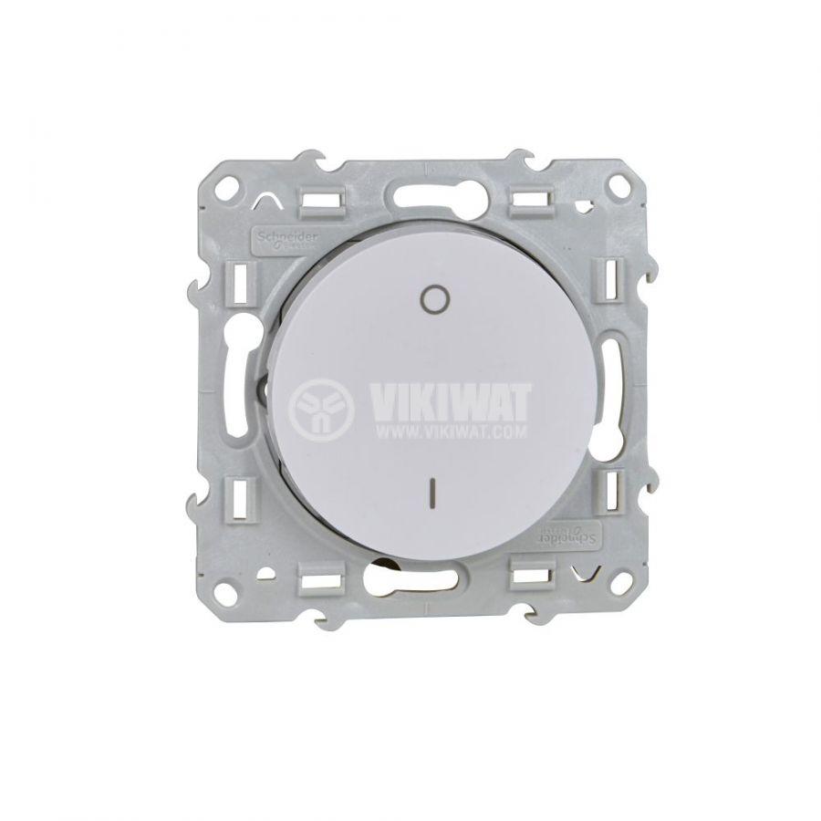 Електрически ключ сх.5 (сериен) единичен, 16A, 250VAC, за вграждане, бял, S520262