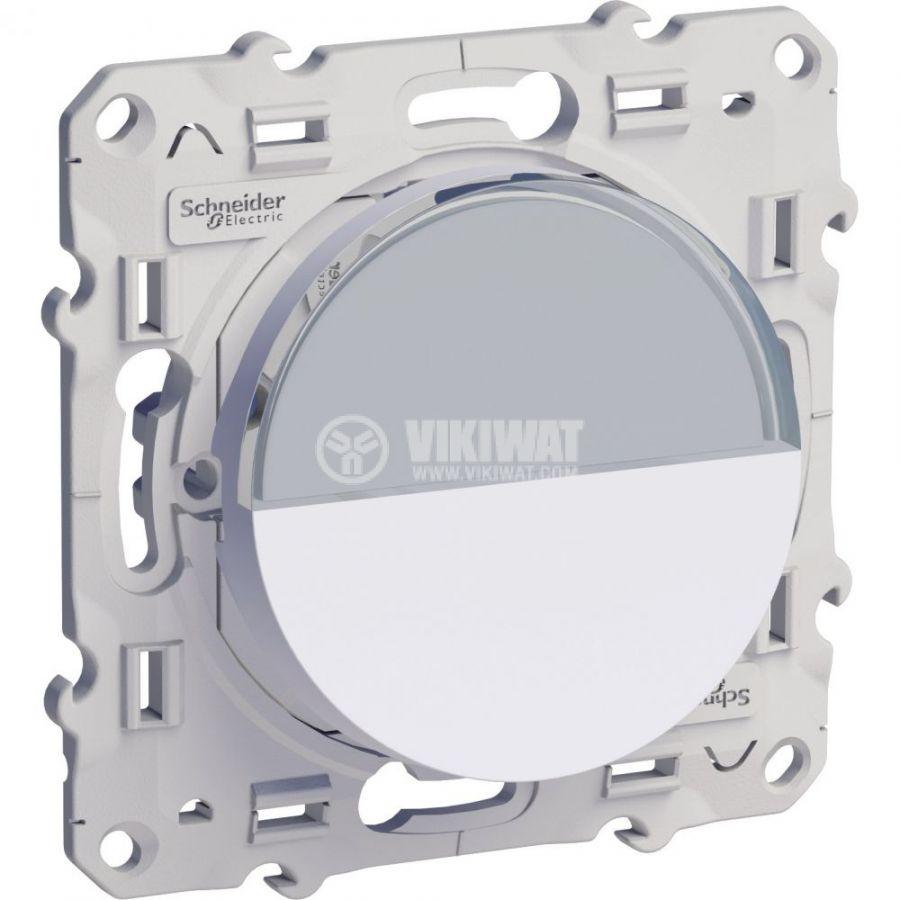 Електрически ключ лихт бутон, 10A, 250VAC, за вграждане, бял, S520266