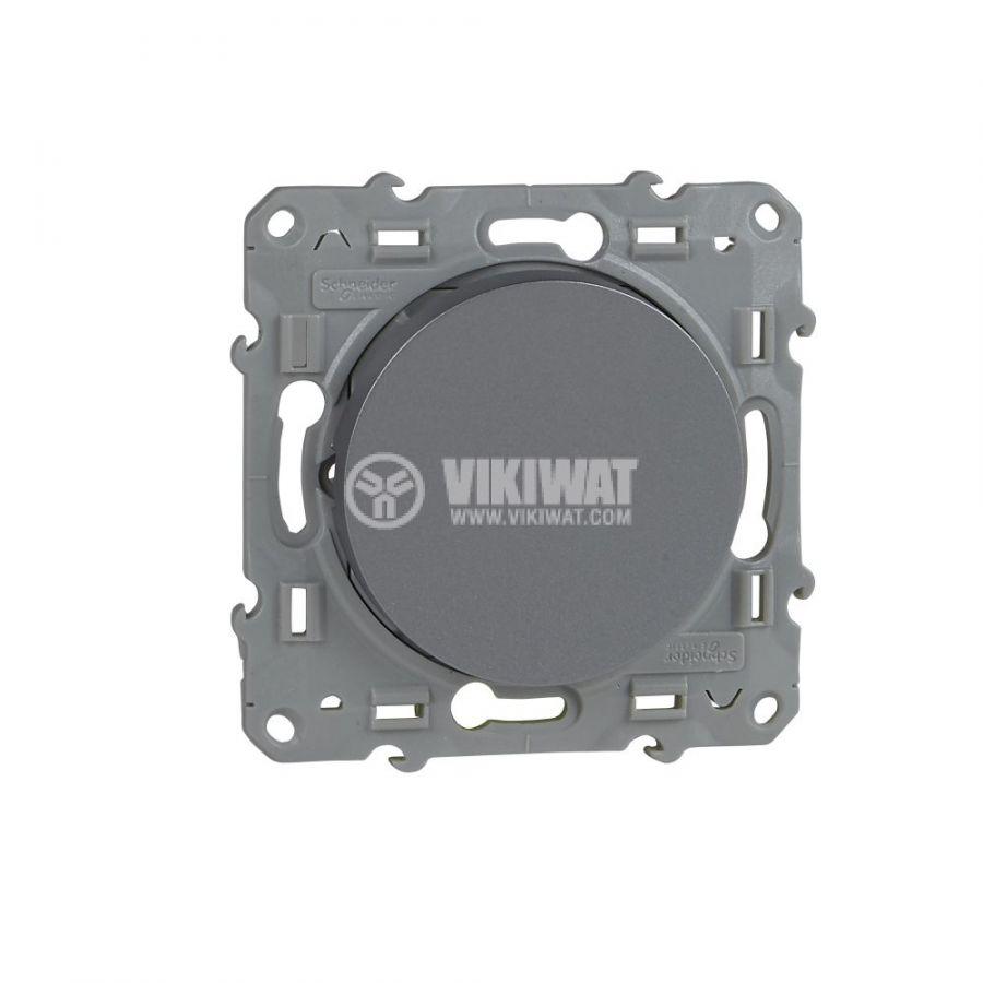 Електрически ключ сх.6 девиаторен, 10A, 250VAC, за вграждане, сребрист, S530203