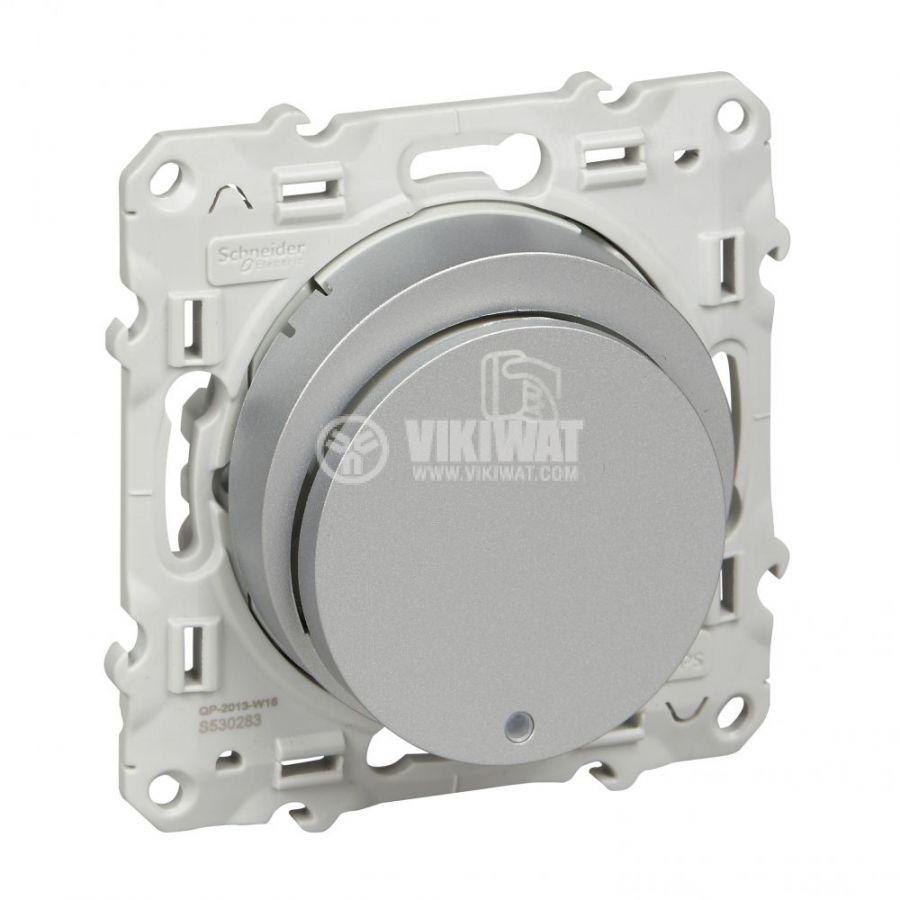 Електрически ключ за карта, 10A, 250VAC, за вграждане, сребрист, S530283