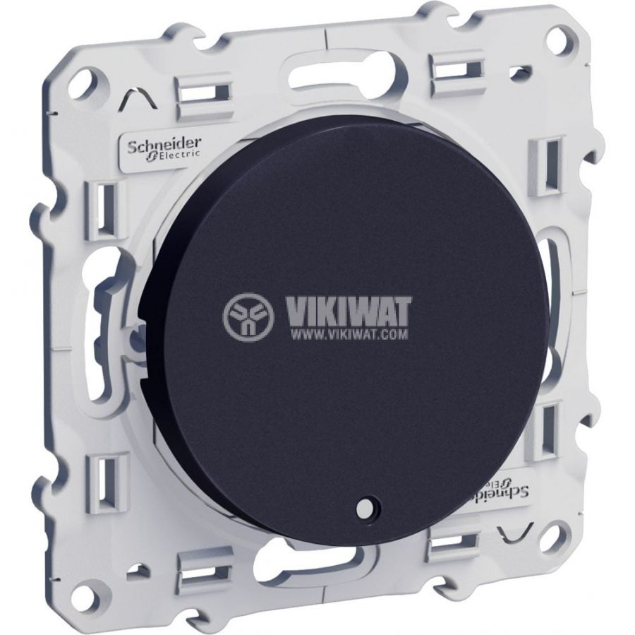 Електрически ключ лихт бутон, 10A, 250VAC, за вграждане, черен, S540276