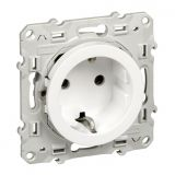 Single socket outlet, 16A, 250VAC, white, for built-in, schuko, S520037