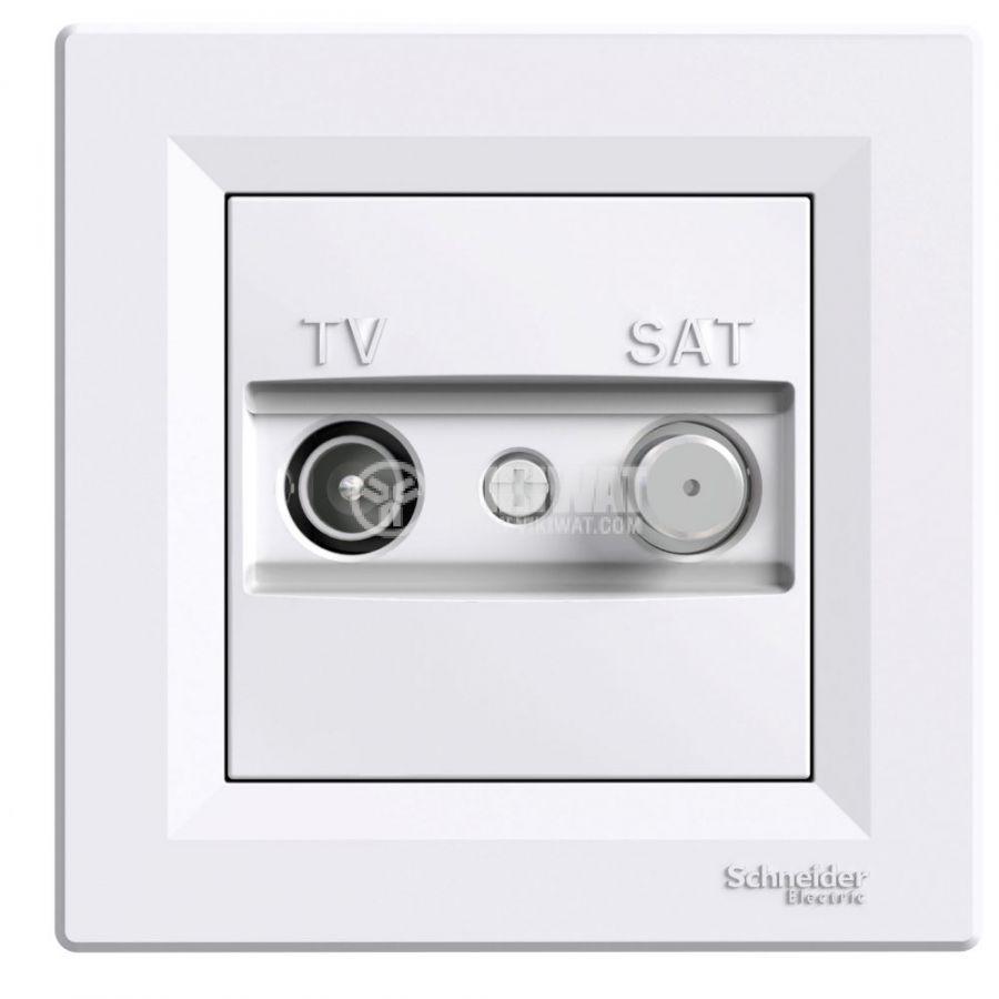 Розетка двойна, F конектор, TV, за вграждане, цвят бял, EPH3400421