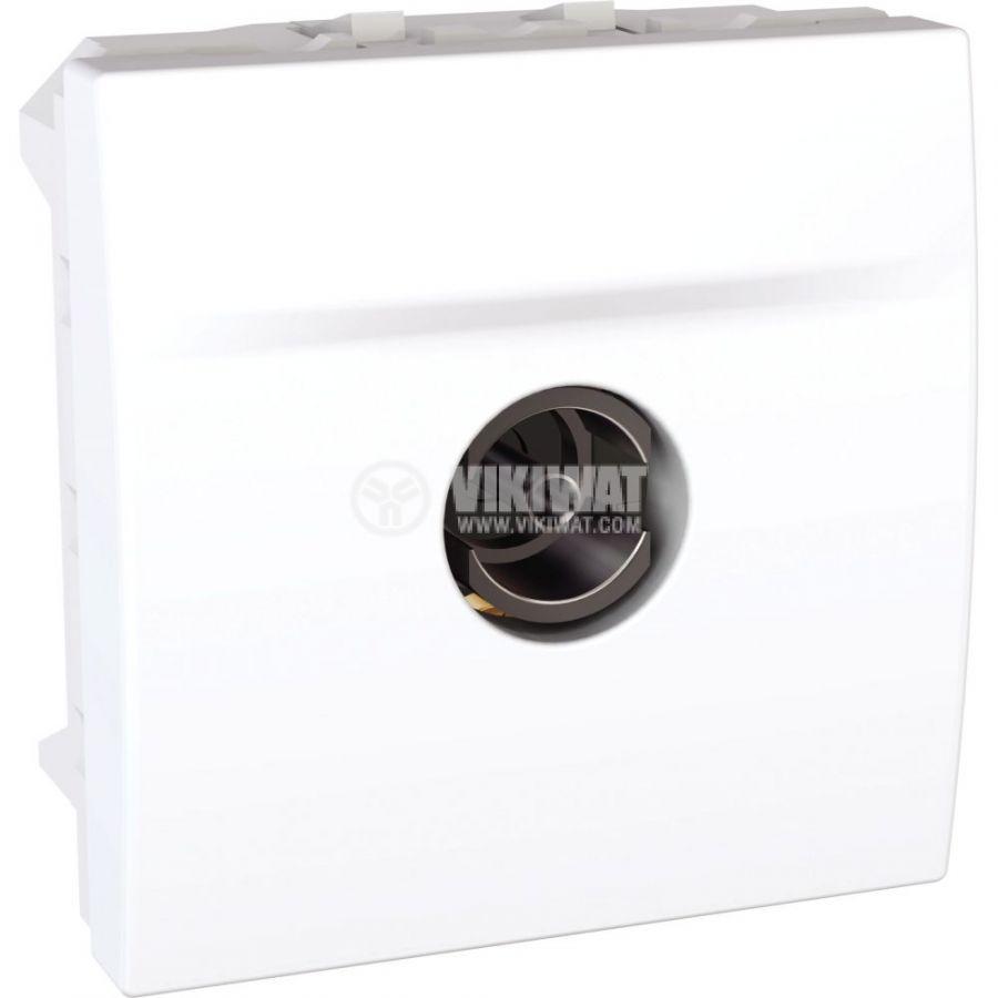 Розетка единична, TV, за вграждане, цвят бял, MGU3.465.18