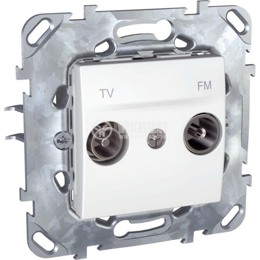 Розетка двойна, TV, радио, за вграждане, цвят бял, MGU50.451.18Z