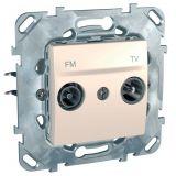 Розетка двойна, TV, радио, за вграждане, цвят слонова кост, MGU50.451.25Z
