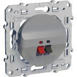 Розетка за аудио, единична, клема за тонколони, за вграждане, сребрист, S530487