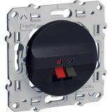 Розетка за аудио, единична, RJ45, за вграждане, черен, S540487